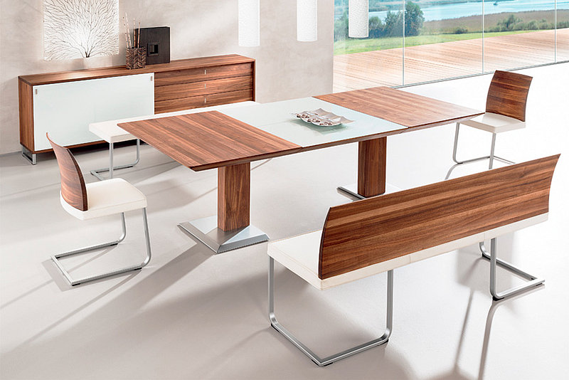 Esszimmer speisezimmer tisch und st hle vitrinen und for Moderne esstischgruppe